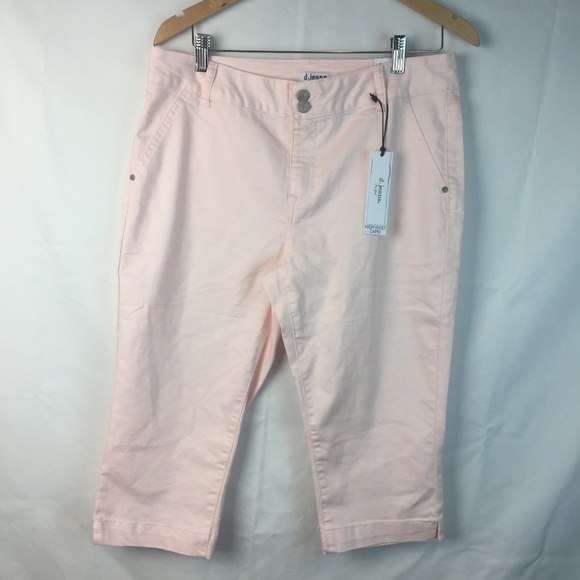 sold worldwide run shoes amazing price D. Jeans Ice Pink Modern Fit High Waist Capri 14 NWT